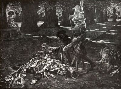 James Jacques-Joseph Tissot, 'Le Petit Nemrod', 1886