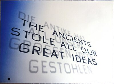 Ed Ruscha, 'Mark Twain Quote (The Ancients Stole All Our Great Ideas)', 2012