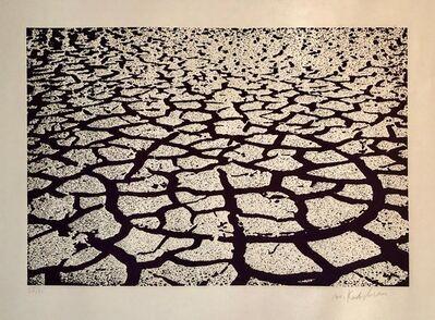 Menashe Kadishman, 'Israeli Modern Pop Art Aquatint Etching Cracked Earth Art Kadishman Lithograph', 1970-1979