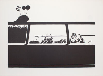 Wayne Thiebaud, 'Candy Counter (State 1)', 1970