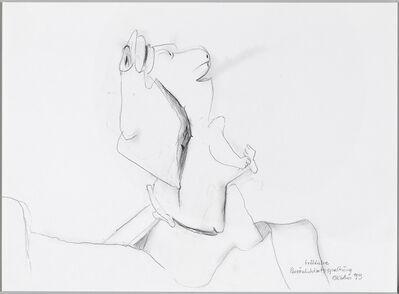 Maria Lassnig, 'Fröhliche Persönlichkeitsspaltung / Cheerful Personality Split', 1999