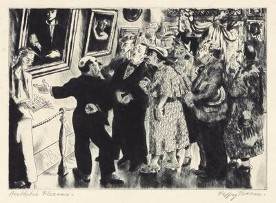 Peggy Bacon, 'AESTHETIC PLEASURE (FLINT 126)', 1936