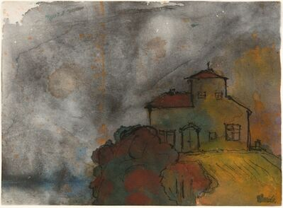 Emil Nolde, 'Haus auf einem Berg', 1938-45