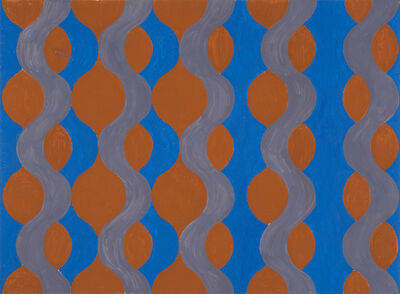Michael Kidner, 'Blue, Brown and Grey Wave', 1965