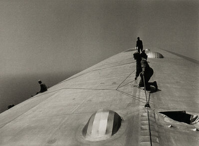 Alfred Eisenstaedt, 'Repairing the Hull of the Graf Zeppelin During the Flight over the Atlantic', 1934-printed later