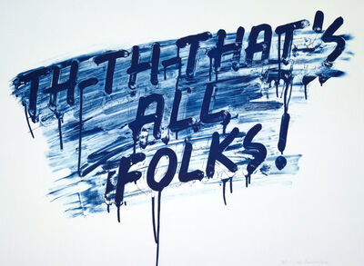 Mel Bochner, 'That's All Folks!', 2014