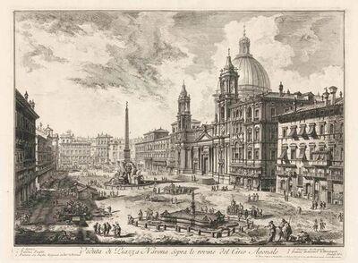 Giovanni Battista Piranesi, 'VEDUTA DI PIAZZA NAVONA SOPRA LE ROVINE DEL CIRCO AGONALE (HIND 16)', 1751