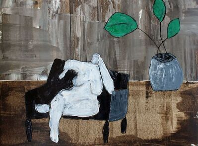 Laura Dargan, 'Lady with Plant'