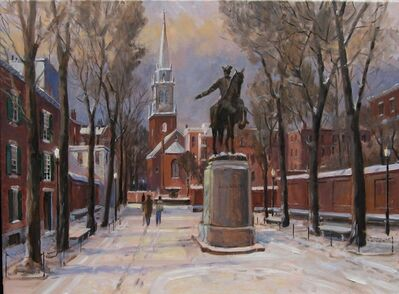 Frederick Kubitz, 'Paul Revere Monument in Winter', 2019