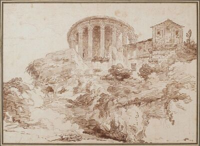 Hubert Robert, 'Temple of Sibyl at Tivoli', ca. 1759