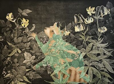 Julia Lucey, 'Golden Raccoon In Blackberries and Tiger Lilies', 2015
