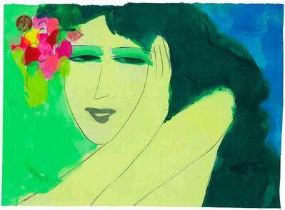 Walasse Ting 丁雄泉, 'Pretty Green Lady', 1990-2000