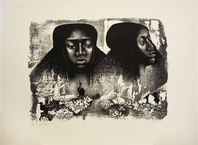 Elizabeth Catlett, 'Lovely Twice', 1976
