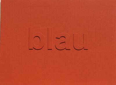 Josef Bauer, 'Zweifarbenbild', 1985
