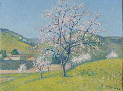 Achille Laugé, 'Arbres en Fleur à Alet-les-Bains ', 1919