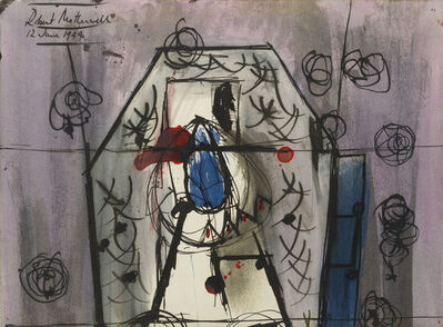 Robert Motherwell, 'Blue Nosed Mexican', 1944