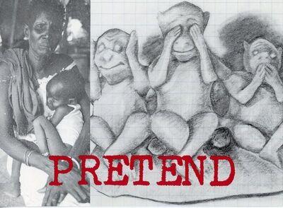 Adrian Piper, 'John Weber Gallery, Adrian Piper, Pretend, Card', 1990