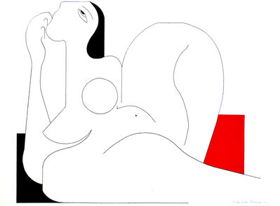 Hildegarde Handsaeme, 'Feminine Concept (Red)', 2019