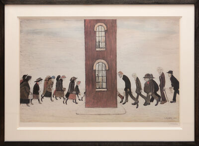 L.S. Lowry, 'Meeting Point.', 1973