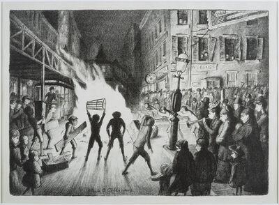 Glenn O. Coleman, 'Election Night Bonfire', Date unknown