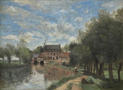 Jean-Baptiste-Camille Corot, 'Arleux-du-Nord - Le Moulin Drocourt sur la sensée', 1871
