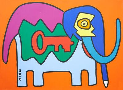 Thierry Noir, 'My Elephant Loves Oranges', 2016