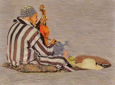 John Wassenaar, 'Music on the square in Marrakech'