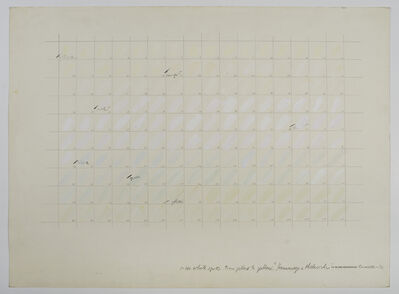 Osvaldo Romberg, '1-160 White Spots from yellow to yellow, Homage to Malevich', 1976