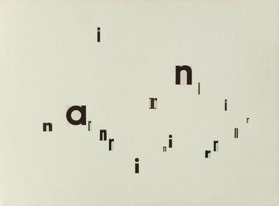 Gerhard Rühm, 'Untitled (n a r)', 1960