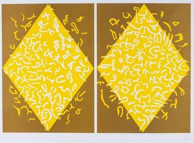 Carla Accardi, 'Yellow rhombus'