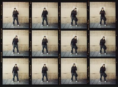 James Pfaff, 'Banksy, Canvas Session (Enlarged Contact Sheet), London, 2004 (Small)', [2004/2021]