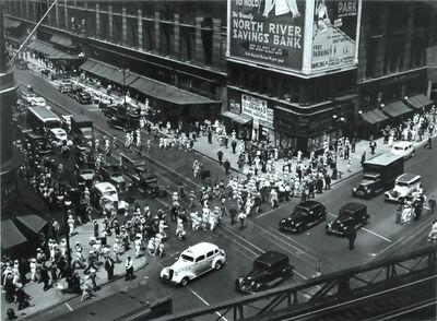 Berenice Abbott, 'Herald Square, 34th and Broadway, Manhattan, July 16', 1936