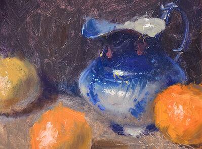 C.W. Mundy, 'Flo-blue Pitcher and Oranges', 2006