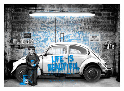 Mr. Brainwash, 'VW Beetle Blue', 2020