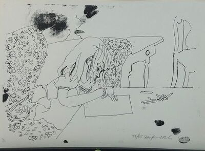 Fairfield Porter, 'Child Writing', 1960-65
