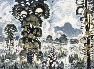 Charles Ephraim Burchfield, 'Fireflies and Lightning', 1964-1965