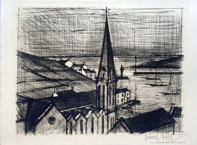Bernard Buffet, 'Le Clocher de Sauzon', 1962