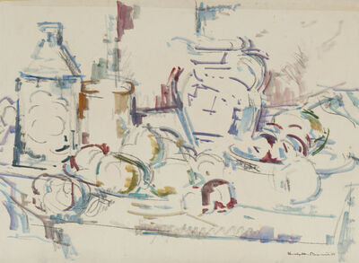 Herbert Barnett, 'Study for Compote and Blue Pitcher', 1964