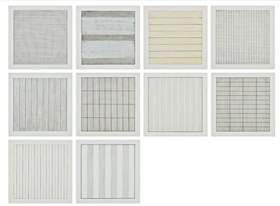 Agnes Martin, 'Suite of 10 (Ten) Original Lithographs on Vellum Parchment (Stedelijk Museum, Amsterdam)', 1990-1991