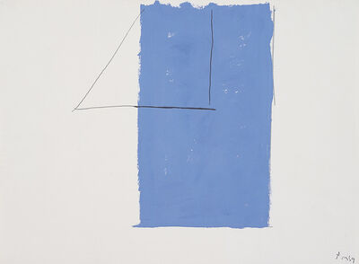 Robert Motherwell, '[  Open Study (In Blue with Pencil Lines) ]', 1969