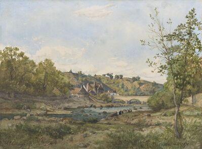 Henri-Joseph Harpignies, 'Vue d'Hérisson', 1871
