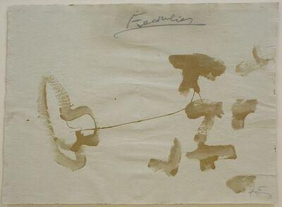 Antoni Tàpies, 'Serie Hivern Num. 14', 1983