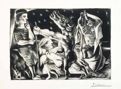 Pablo Picasso, 'Blind Minotaur Led through the Night by Girl with Fluttering Dove', 1934