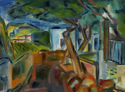 Vaclav Vytlacil, 'Landscape with Houses and Trees', ca. 1924