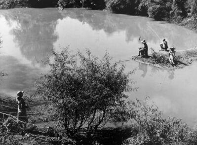 Marion Post Wolcott, 'Fishing in creek near cotton plantations outside Belzoni. Mississippi Delta, Mississippi', 1939