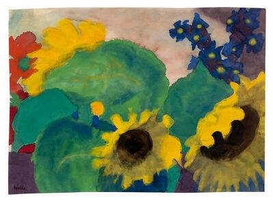 Emil Nolde, 'Sonnenblumen', ca 1925-1928