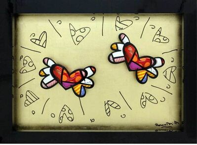 Romero Britto, 'Two Hearts', 2015