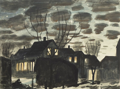 Charles Ephraim Burchfield, 'Night in Gardenville', 1937