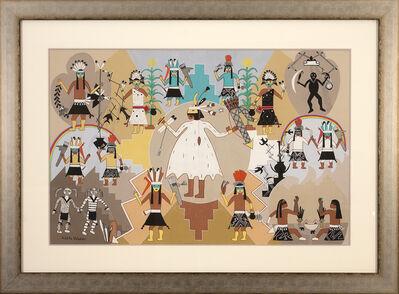 Pablita Velarde, 'Abstract Ceremonial'