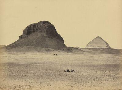 Francis Frith, 'The Pyramids of Dahshoor From the East', 1857
